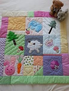 piumoni per bambini baby quilt in patchwork with appliqu 233 d animals crib quilt