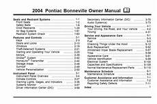 service repair manual free download 1999 pontiac bonneville transmission control pontiac bonneville 2004 owner s manual pdf online download