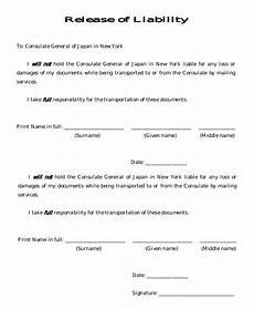 release of liability form car sle liability release form 8 exles in pdf word