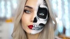 Totenkopf Schminken Frau - easy half skull makeup tutorial ad