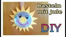 Basteln Mit Cd Basteln F 252 R Kinder Fensterbild Quot Sonne Quot Julebuergerfee
