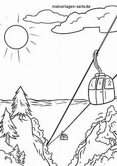 Ausmalbilder Urlaub Berge Malvorlage Seilbahn Ferien Berge Kostenlose Ausmalbilder