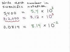 write in scientific notation youtube