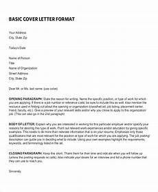 free 6 sle resume cover letter formats in pdf ms word