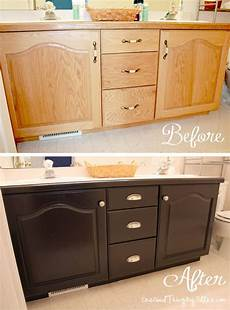 bathroom cabinets makeover my first quot grown up quot diy project one good thing by jillee