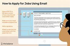 how to apply for using email