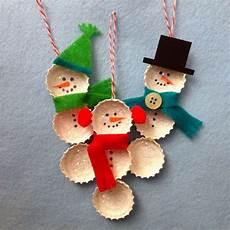weihnachtsbasteln mit kindern 25 cool snowman crafts for hative