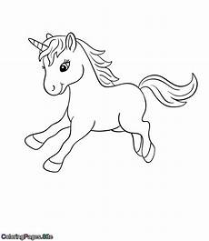 Malvorlagen Unicorn Yellow Baby Unicorn Coloring Page Coloring Pages Cat