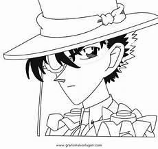 kaito kid 5 gratis malvorlage in comic trickfilmfiguren