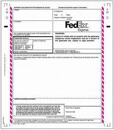 11 fedex customs declaration form letter