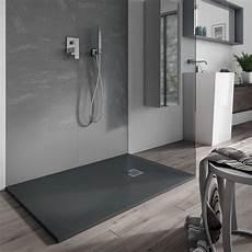 doccia in resina piatto doccia quadrato filopavimento 80x140 cemento in