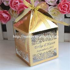 laser cut gold wedding box wedding gift wedding favor box personalised in gift bags
