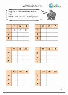 subtraction worksheets with grid lines 10162 subtraction number grids