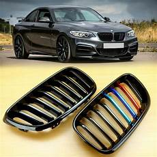 metal style gloss black m color grill for bmw f22 f23 f87 2 series m235i ebay