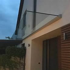 vordach mit licht glasvordach dura