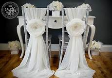 2019 2015 white wedding decorations chair covers sash for weddings with big 3d flowers chiffon