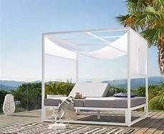 garten daybed aus aluminium wei 223 cara 239 bes maisons du monde