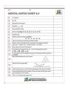 5th grade mental math worksheet 5th grade 2 school