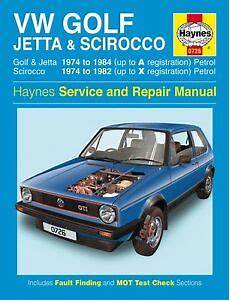 free service manuals online 1993 volkswagen golf iii spare parts catalogs haynes owners workshop manual vw golf jetta scirocco mk 1 74 84 service repair 699414011902 ebay
