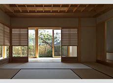 Timber Framed Japanese House Built Around Private Gardens