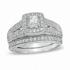 enthralling wedding ring 2 carat princess cut diamond gold jeenjewels