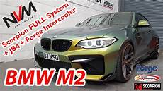 stage 2 bmw m2 430bhp sounds and performance scorpion exhaust and jb4 youtube