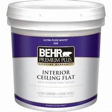 behr premium plus 2 gal white flat ceiling interior paint 55802 the home depot