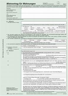 rnk verlag vordruck universal mietvertrag f 252 r wohnungen
