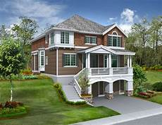 house plans for sloped land for the front sloping lot 2357jd 2nd floor master