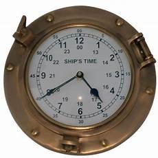 solid brass ships porthole wall clock maritime ship s