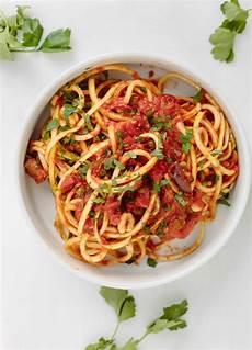 Vegan Zucchini Spaghetti Puttanesca Inspiralized