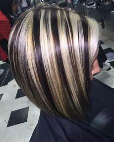 chunky streaks hairstyles websta hairbysteph724 chunkyhighlights highlights lowlights shorthair invertedbob