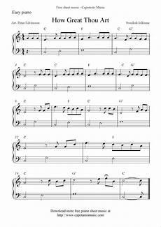 free easy piano sheet music how great thou art