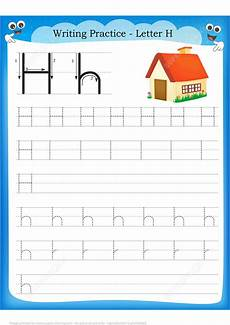 letter h handwriting worksheets 24478 letter h is for home handwriting practice worksheet free printable puzzle