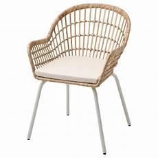 nilsove norna chaise coussin rotin blanc laila