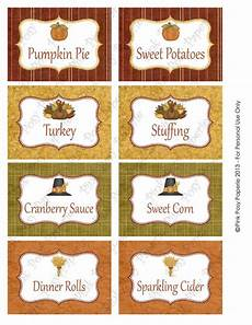 thanksgiving food label cards template printable thanksgiving food labels