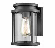franklite alfresco exterior wall light charcoal grey cast aluminium finish with clear glass