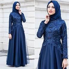 Kebaya Muslim Gaun Perempuan Pakaian Pesta Model