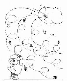 weather tracing worksheets 14689 fall windy day line worksheet for curly lines preschool weather weather crafts