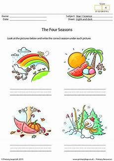 primaryleap co uk writing the four seasons worksheet