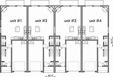 4 plex house plans four plex house plans craftsman row house plans f 555