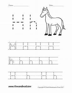 tracing the letter h worksheets for preschoolers 23691 letter h worksheets