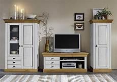 möbel wohnzimmer weiß massivholz wohnwand 2farbig wei 223 kiefer anbauwand