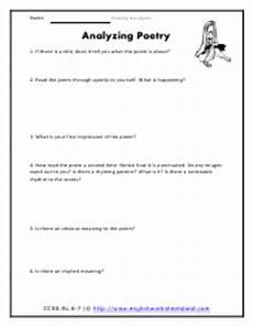 poetry analysis worksheet with poem 25534 poetic analysis worksheets