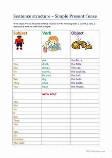present simple sentence structure questions and answers