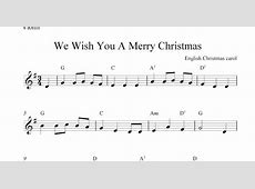 we wish you a merry christmas chords