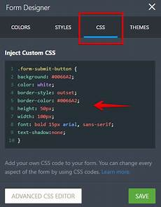 css form design code how to customize the submit button with css