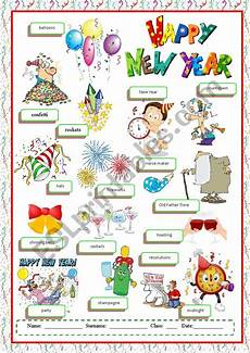 new year esl worksheets 19324 happy new year vocabulary esl worksheet by despinacy