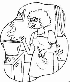 Malvorlagen Gratis Lengkap Mutter Kocht Ausmalbild Malvorlage Menschen