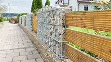 Mauer Auf Grundstücksgrenze - 50 gabion wall and fence ideas photos